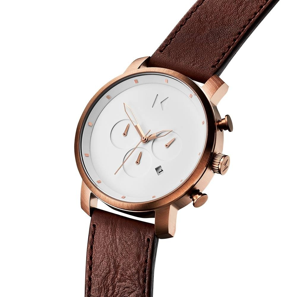 MVMT Chrono Rose Gold Natural Tan D-MC01-RGDBR
