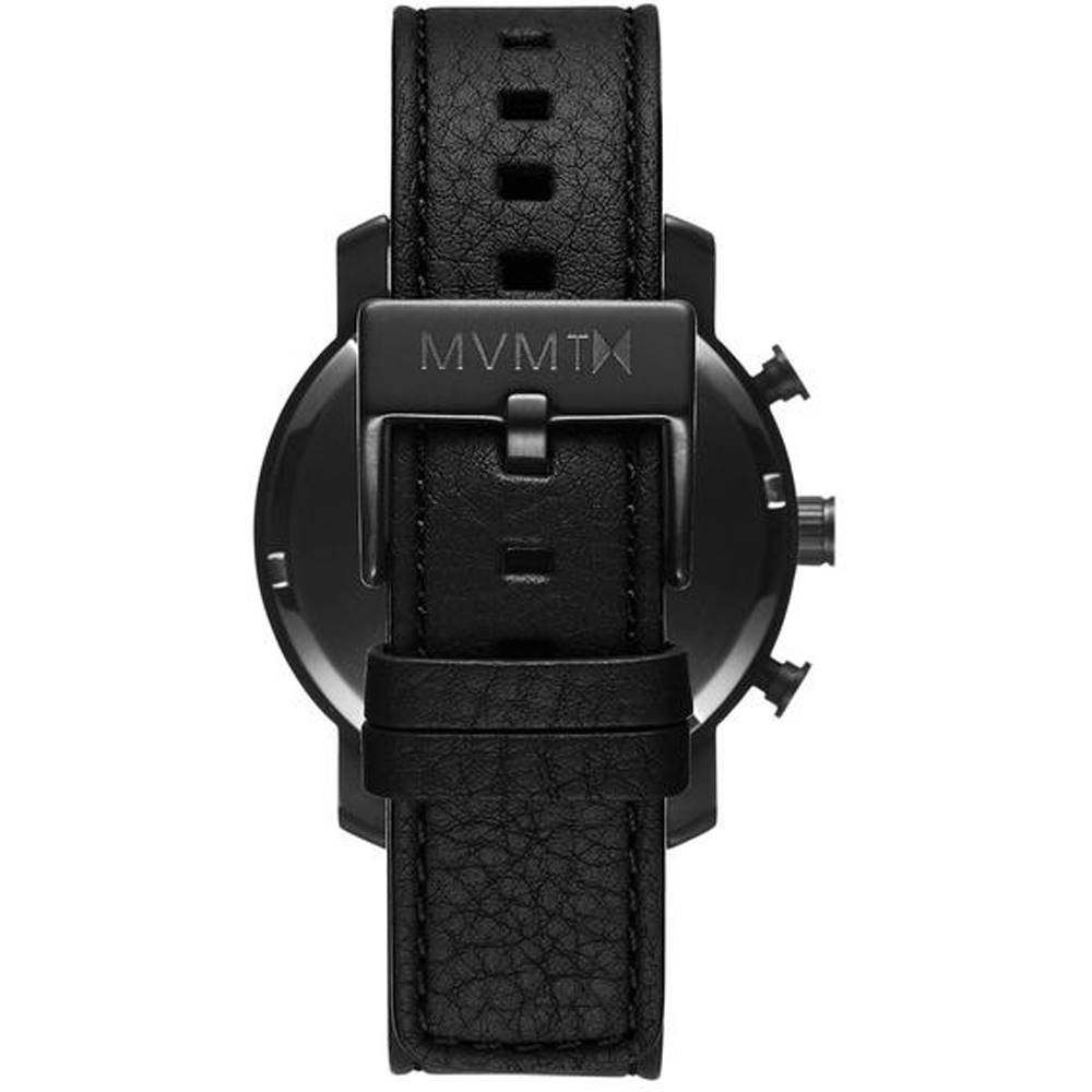 MVMT Chrono Black Leather D-MC02-BLBL